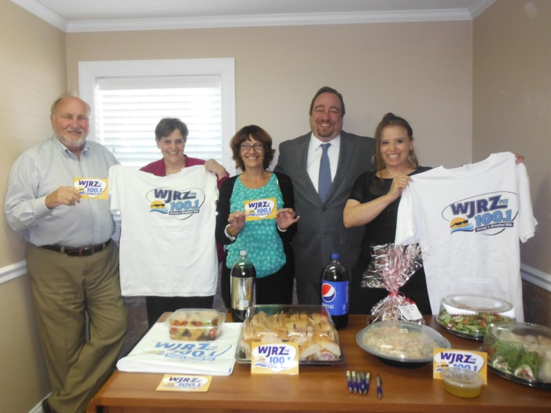 Eileen Rankosky and staff from Priority Insurance Agency in West Toms River enjoy FREE Lunch from Mulberry Street