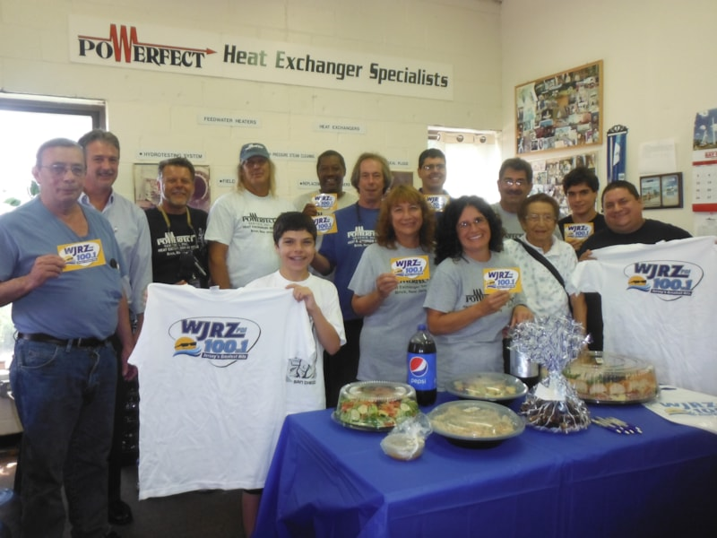 Sean Luddy and crew from Powerfect in Brick enjoy FREE Lunch from Mulberry Street