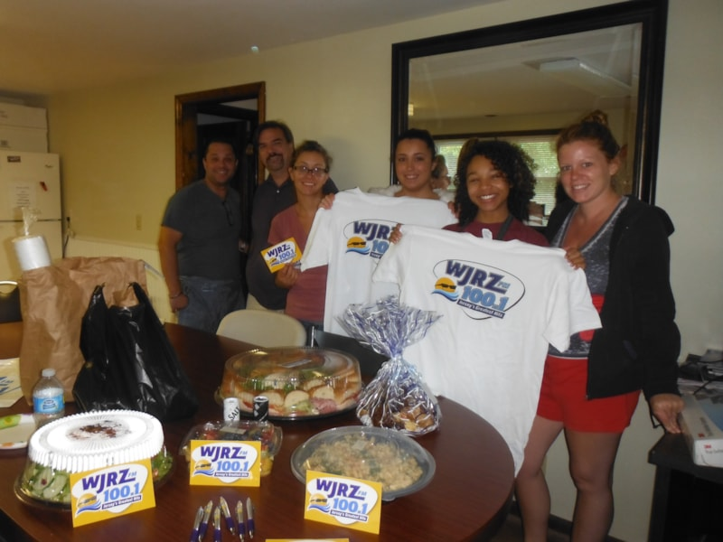 Sara Price and staff of Alpha Dental Lab in Waretown enjoy FREE Lunch from Mulberry Street