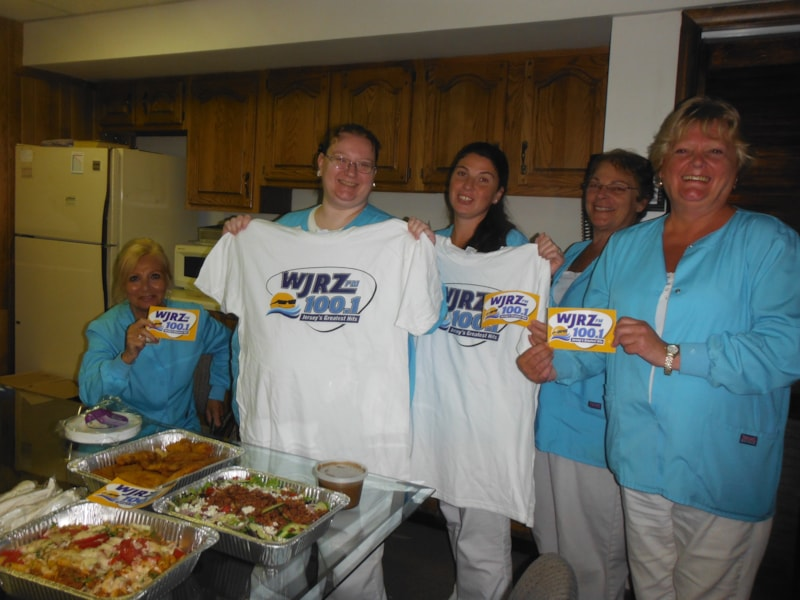 Merrilee Steele and the girls from Toms River Medical Group enjoy FREE Lunch from Bum Rogers Crabhouse