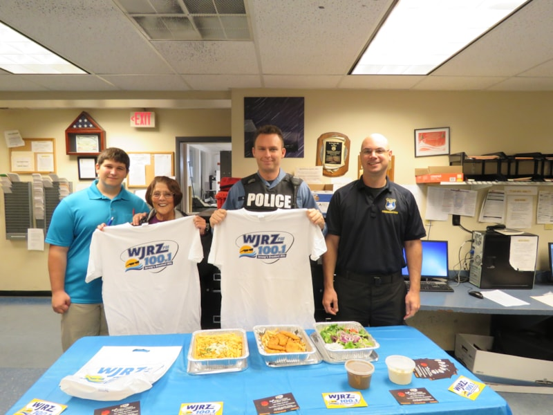 The Seaside Heights Police Department enjoy FREE Lunch from Bum Rogers Crabhouse