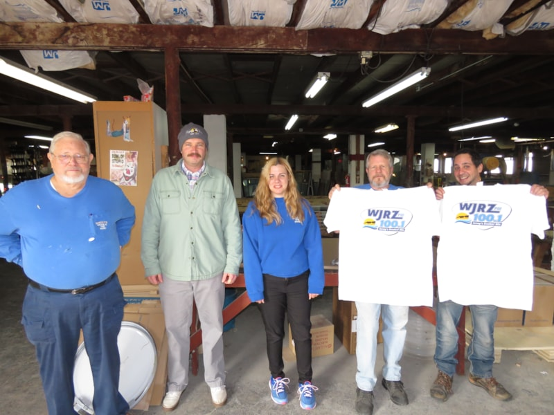 Frank Faliveno and staff from Insulite Inc. in Toms River enjoy FREE Lunch from Bum Rogers Crabhouse
