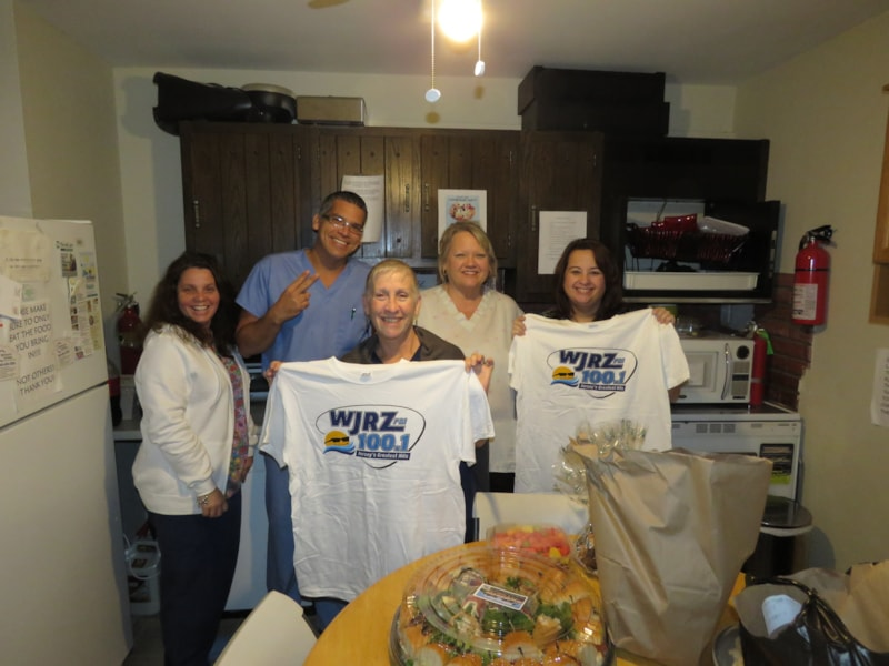 Jackie Striffler and staff from Stafford Orthopedics in Manahawkin enjoy FREE Lunch from Mulberry Street