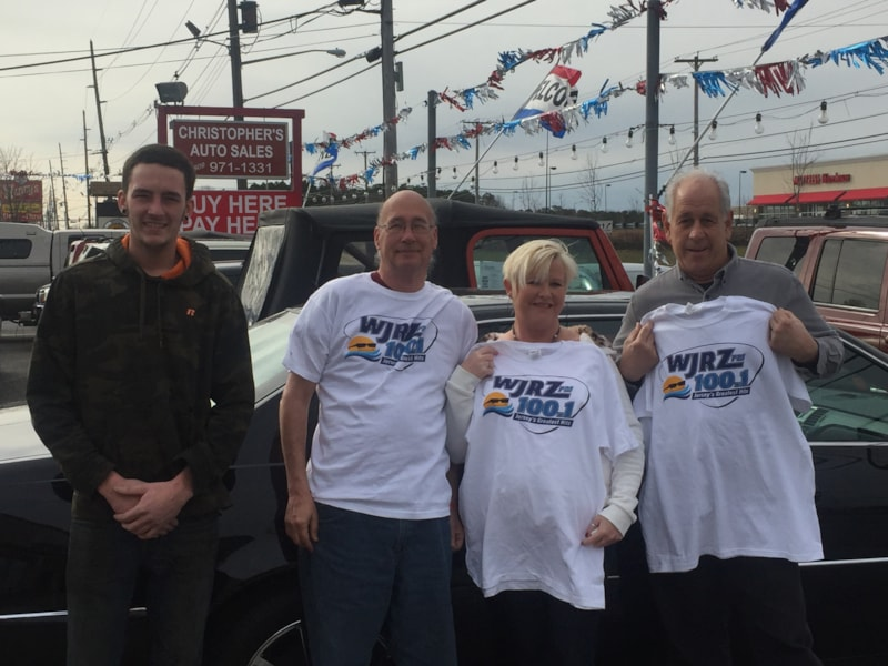 Rick Schwerdt and the gang from Christopher's Auto Sales in Lanoka Harbor enjoy FREE Lunch from Mulberry Street