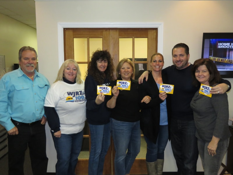 Carrie Richter and the gang from Pecora Realtors in Toms River enjoy FREE Lunch from Bum Rogers Crabhouse
