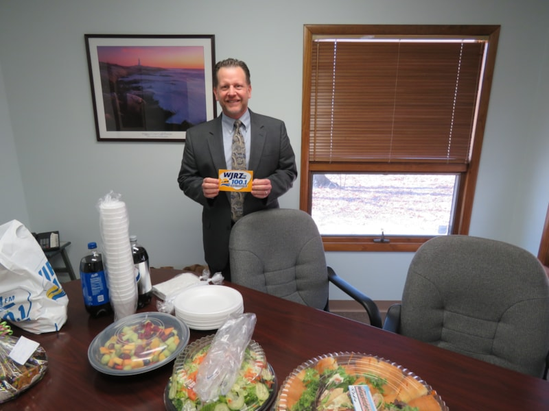 Scott Hanula and staff from Hanula Esq Law Offices in Forked River enjoy FREE Lunch from Mulberry Street