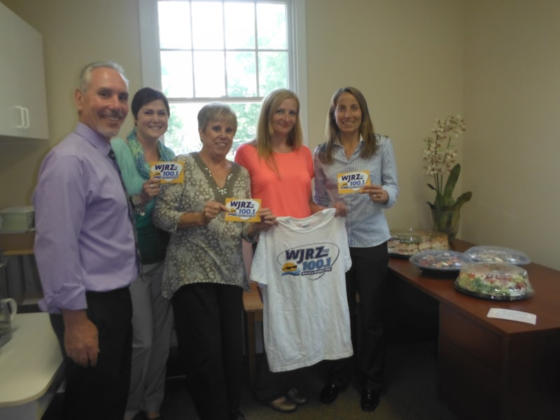 Jodi Geniton and staff from Motion Physical Therapy in Manahawkin enjoy FREE Lunch from Mulberry Street