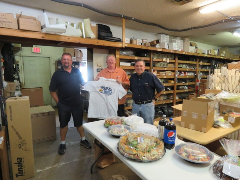 John Creutz and the boys from Ace Outdoor Power Equipment in Bayville enjoy FREE Lunch from Mulberry Street