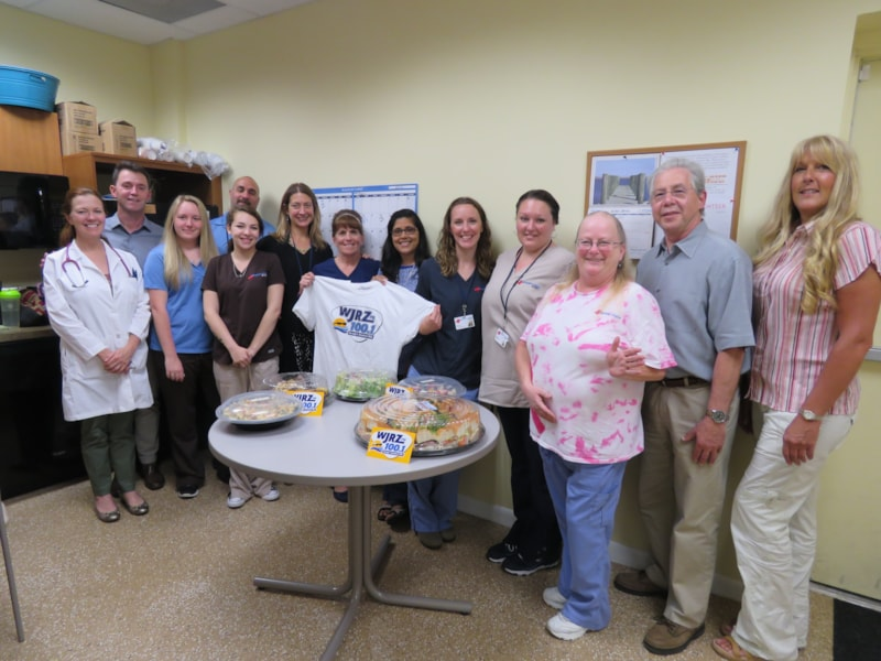The staff from Urgent Care Now in Lanoka Harbor enjoy FREE Lunch from Mulberry Street