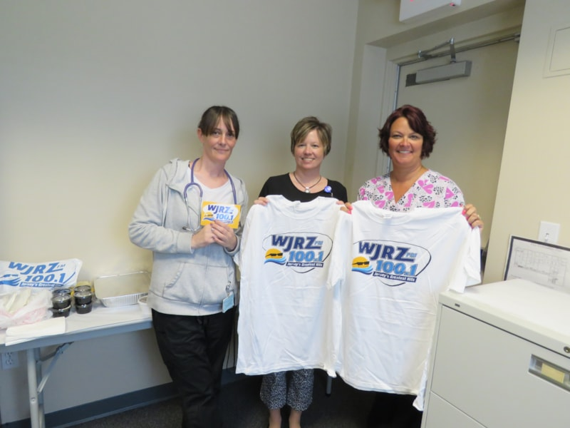 The staff from William K. Power Jr., MD in Forked River enjoy FREE Lunch from Bum Rogers Crabhouse