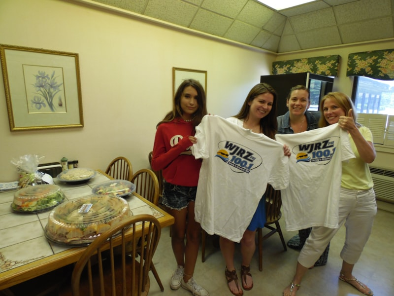 Coleen Atkinson and the girls from Bathgate, Wegener & Wolf in Lakewood enjoy FREE Lunch from Mulberry Street