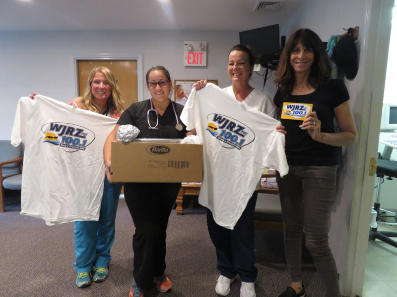 Marybeth Lacicero and the girls from Shore Cardiac Institute in Toms River enjoy FREE Lunch from Bum Rogers Crabhouse