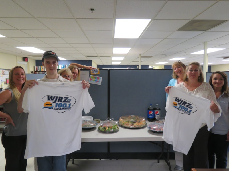 Carol Butti and crew from Gammon Technical Products in Manasquan enjoy FREE Lunch from Mulberry Street