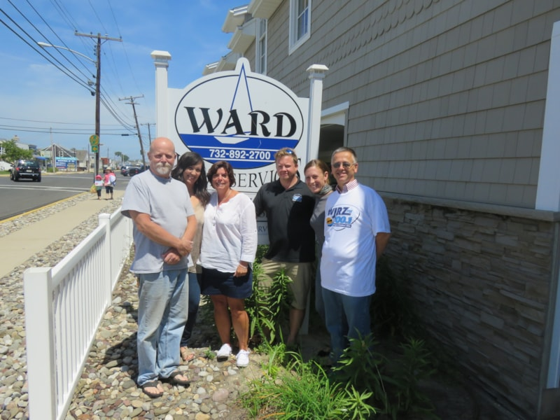 Chad Moffett and crew from Ward Home Services in Point Pleasant enjoy FREE Lunch from Mulberry Street