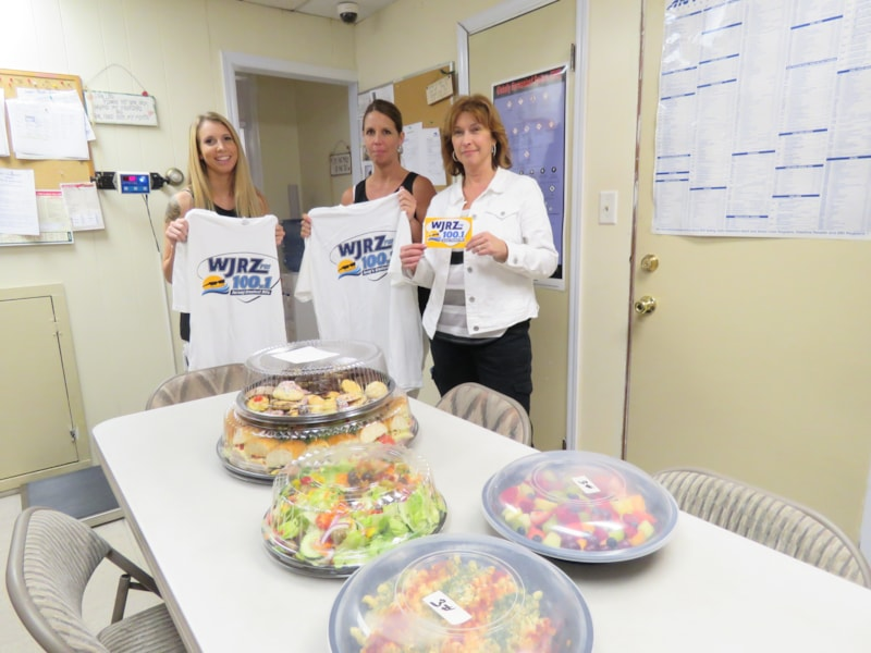 Julie Zbikowski and the girls from Veterinary Associates in Forked River enjoy FREE Lunch from Mulberry Street