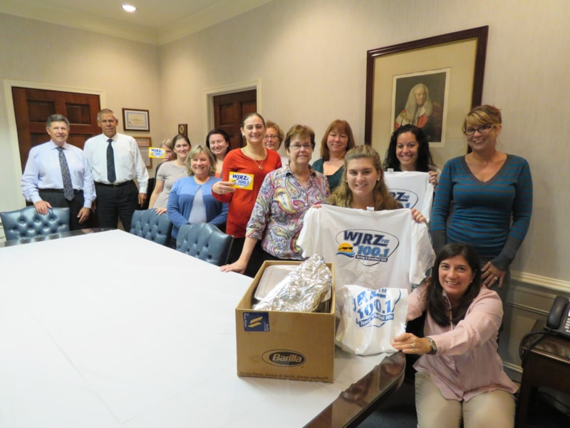 Lynda Walizer and staff from Berry, Sahradnik, Kotzas & Benson in Toms River enjoy FREE Lunch from Bum Rogers Crabhouse