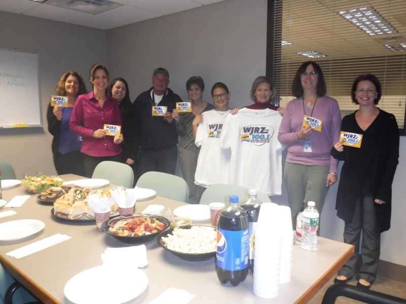 The crew from Ocean County Utilities Authority enjoy FREE Lunch from Mulberry Street