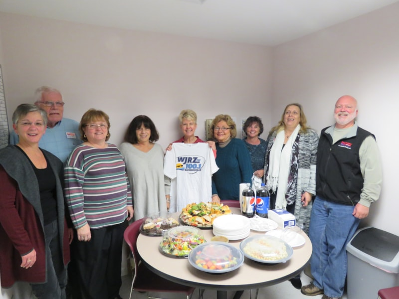 Pamela Mickens and staff from BayShore Agency in Tuckerton enjoy FREE Lunch from Mulberry Street
