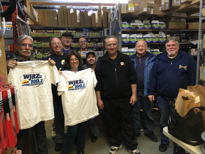 Dan Mileaf and crew from Van Wickle Auto Parts in Point Pleasant enjoy FREE Lunch from Mulberry Street