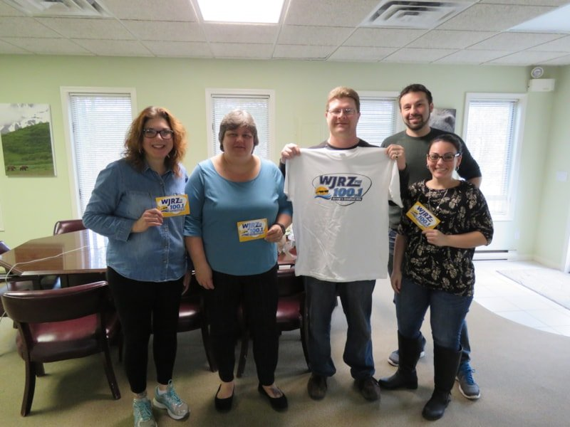 Donna Smith and staff from Terrier Claims Services in Wall enjoy FREE Lunch from Mulberry Street