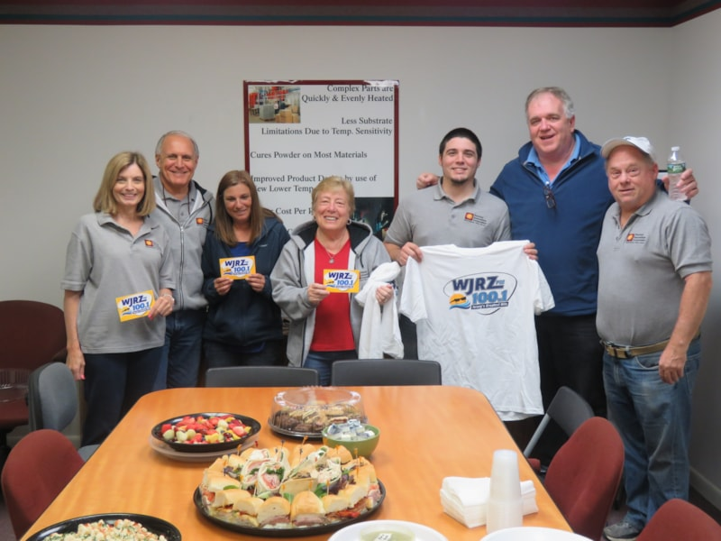 MaryAnn Earl and staff from Thermal Innovations Corporation in Manasquan enjoy FREE Lunch from Mulberry Street