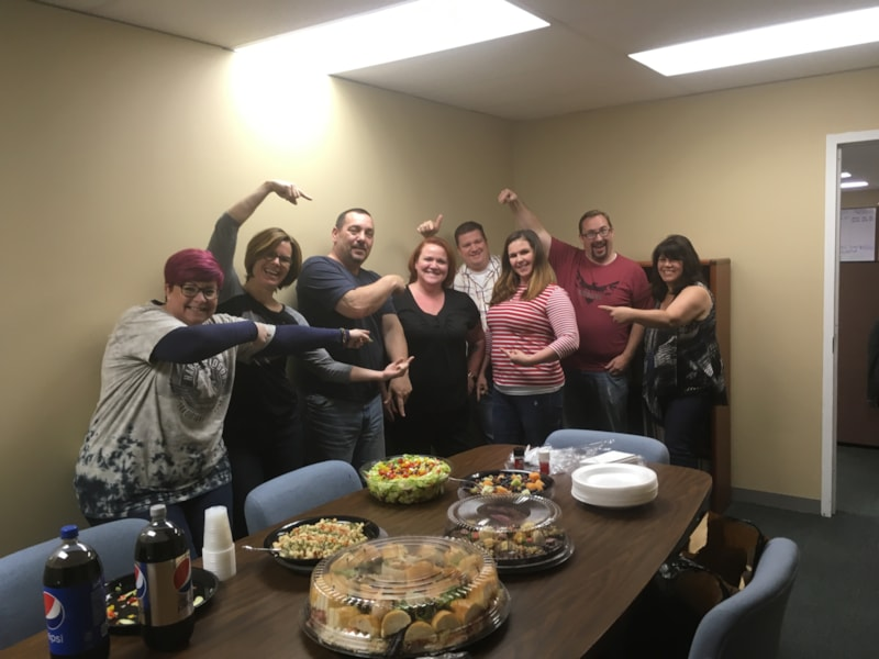 Samantha Ketterer and the gang from Atlas Bronze in Lakewood enjoy FREE Lunch from Mulberry Street