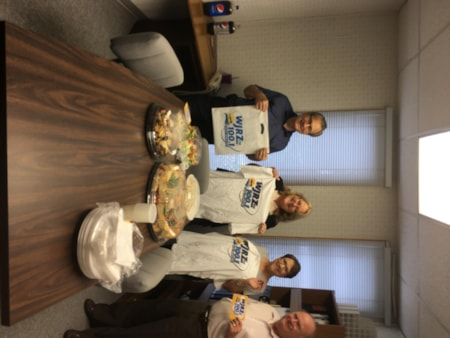 David Lederman and staff from Meyer and Lederman, CPA's in Brick enjoy FREE Lunch from Mulberry Street