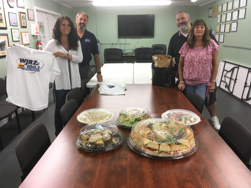 David Ossowski and staff from Aspen Tree Expert Company in  Jackson enjoy FREE Lunch from Mulberry Street