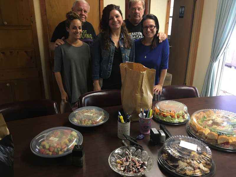 Paul Revere and staff from Southern Shores Title Agency, LLC in Manahawkin enjoy FREE Lunch from Mulberry Street