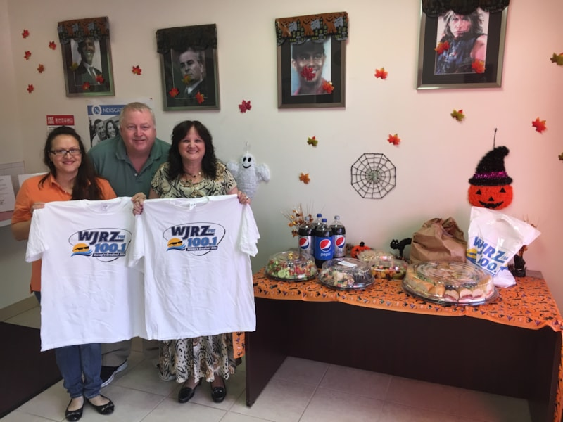 Cynthia Waterman and crew from Checks 2 Cash in Forked River enjoy FREE Lunch from Mulberry Street