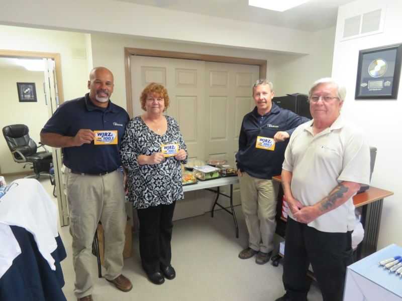 Christian Goble and staff from Pillar To Post Home Inspectors in Barnegat enjoy FREE Lunch from Mulberry Street
