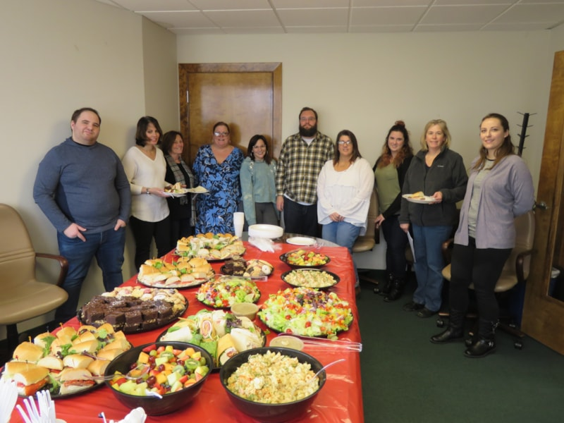 Jennifer Adam and crew from Specialty Insurance Agency in Brick enjoy FREE Lunch from Mulberry Street