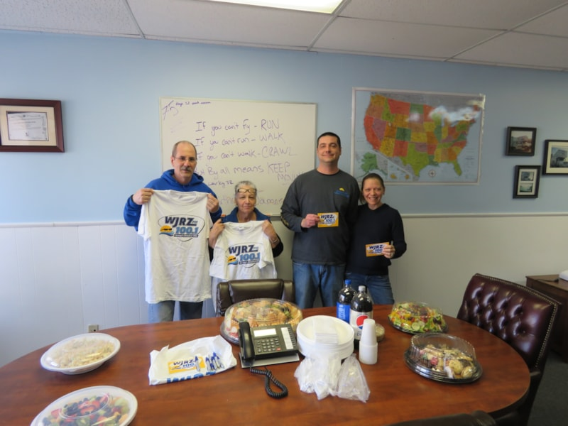 Jackie DiGangi and staff from Jersey Shore Moving and Storage in Manasquan enjoy FREE Lunch from Mulberry Street