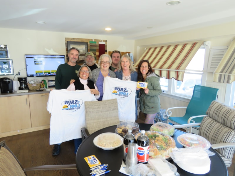 Lynn Hoffman and staff from Giglio Awning in Harvey Cedars enjoy FREE Lunch from Mulberry Street