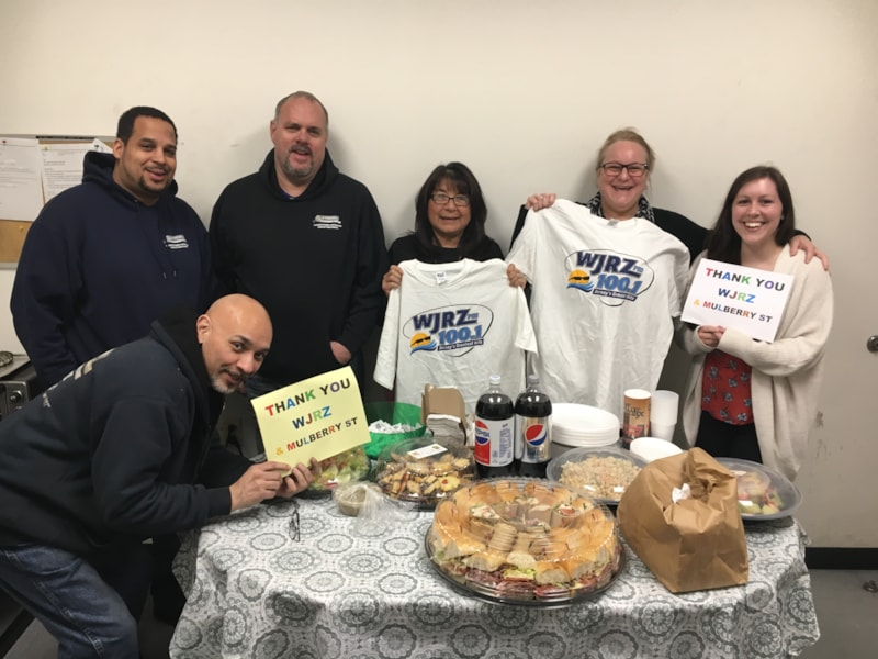 Nancy Aragon and staff from Stickel Packaging in Lakewood enjoy FREE Lunch from Mulberry Street