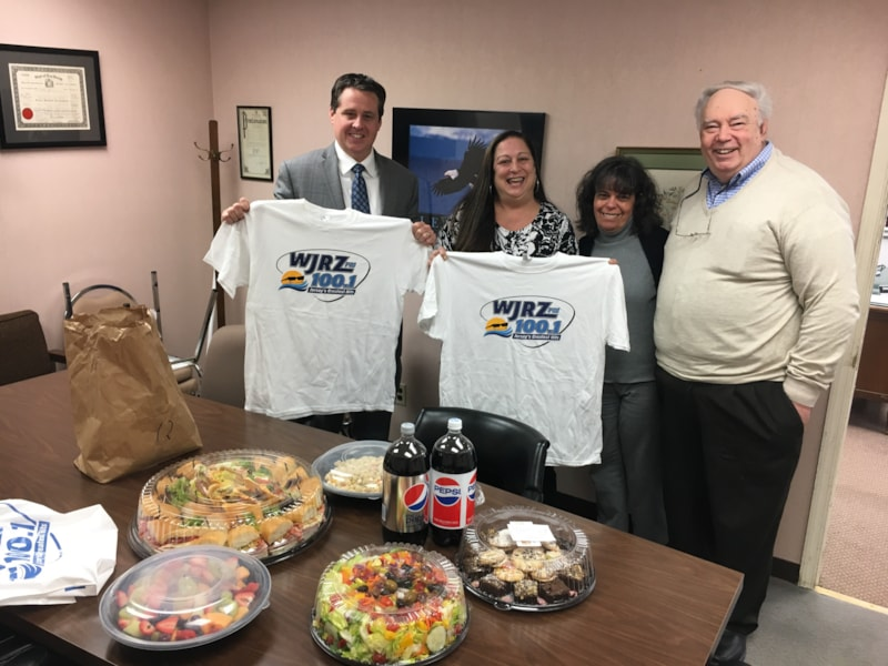 Helen Triggiano and staff from Danskin Insurance Agency, Inc. in Wall Twp. enjoy FREE Lunch from Mulberry Street