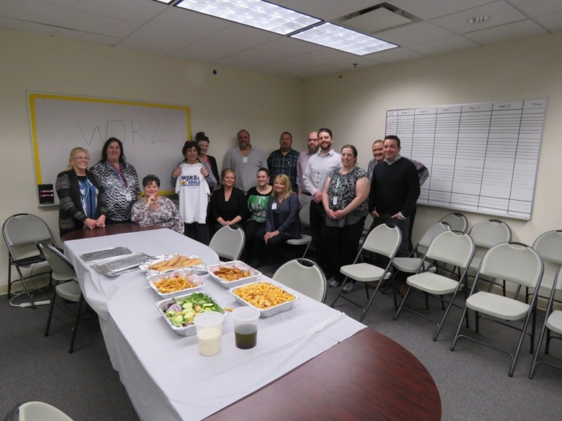 JoAnn Papola and staff from ReNewJersey Stronger in Freehold enjoy FREE Lunch from Bum Rogers Crabhouse