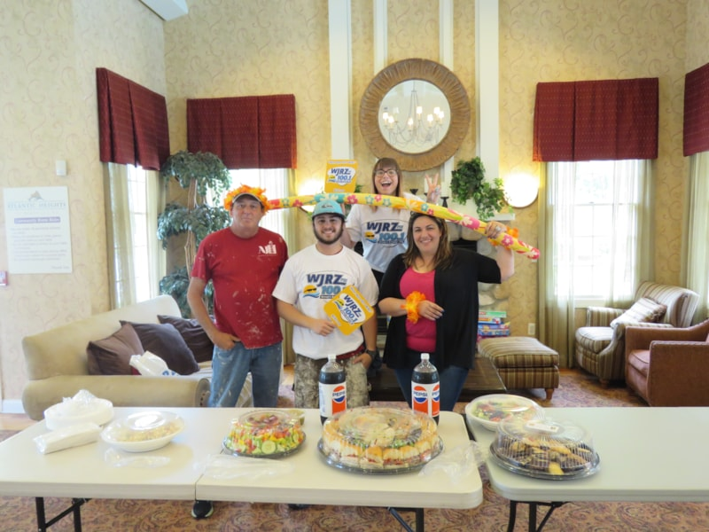 Cynthia Passoni and staff from Atlantic Heights Apartments in Barnegat enjoy FREE Lunch from Mulberry Street