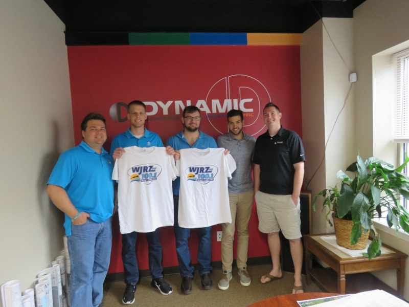 Dan Tarabokija and crew from Dynamic Engineering Consultants in Toms River enjoy FREE Lunch from Bum Rogers Crabhouse