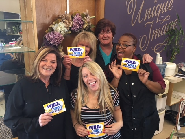 Rosaria Kaminski and the girls from Unique Image in Lakehurst enjoy FREE Lunch from Mulberry Street