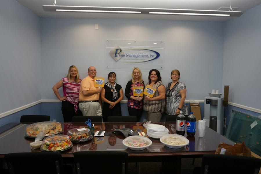 JoAnn Demarco and staff from Prime Management  Inc. in Manahawkin enjoy FREE Lunch from Mulberry Street
