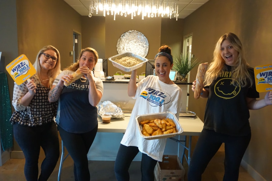 Kimberly Palmer and the girls from Spa Virtue in Toms River enjoy FREE Lunch from Bum Rogers Crabhouse