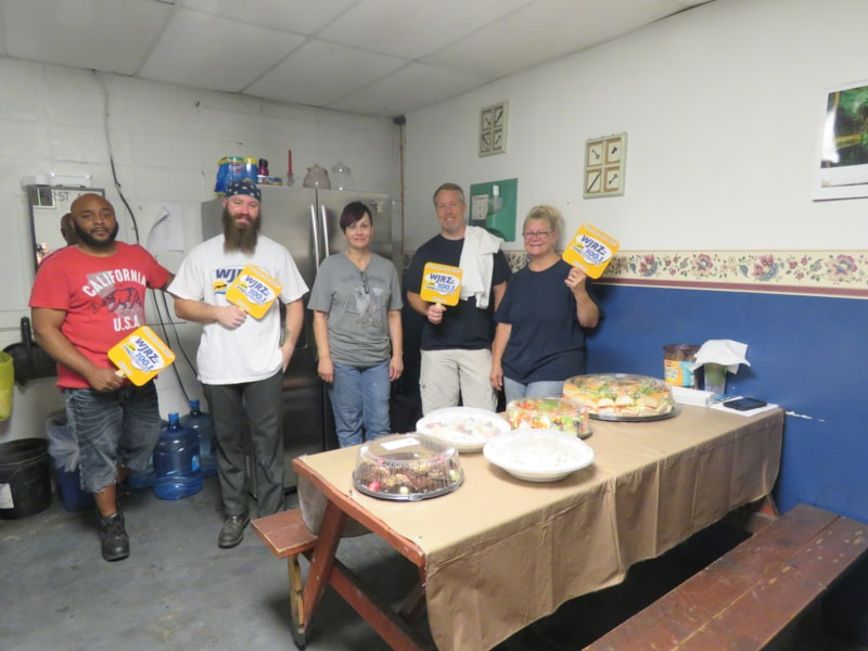 Darlene Long and crew from American Braiding in Howell enjoy FREE Lunch from Mulberry Street