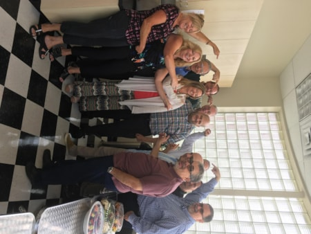 Jay Yudof and crew from Envision Innovative Solutions in Manasquan enjoy FREE Lunch Mulberry Street
