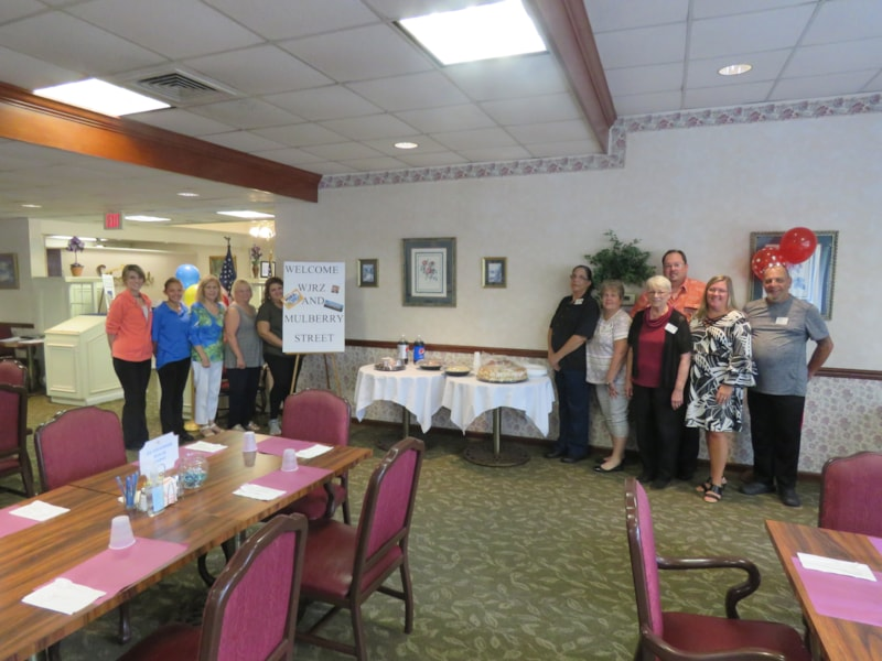 Michael Riotto and staff from Silverwoods Retirement Community in Toms River enjoy FREE Lunch from Mulberry Street