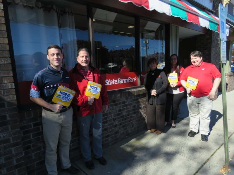Matt Huss and staff from State Farm in Brick enjoy FREE Lunch from Mulberry Street