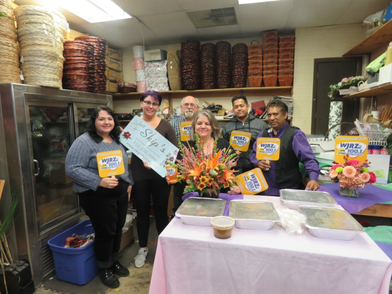 Debbie Nutt and staff from Skip's Florist in Toms River enjoy FREE Lunch from Bum Rogers Crabhouse