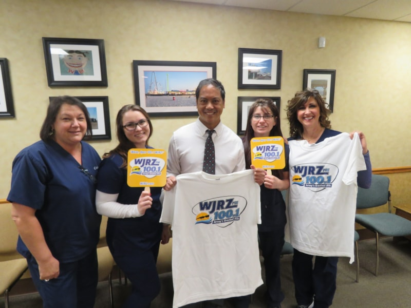 Steve Asanza and staff from SA Orthodontics in Toms River enjoy FREE Lunch from Bum Rogers Crabhouse