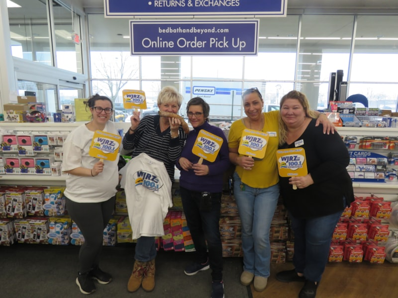 Eileen Carbonaro and staff from Bed Bath and Beyond in Toms River enjoy FREE Lunch from Bum Rogers Crabhouse