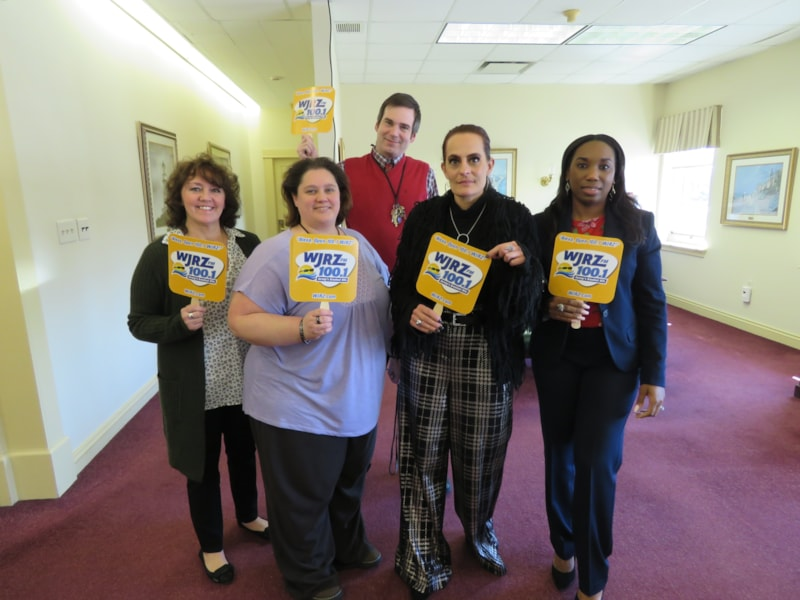 Kristine Cejnowski and staff from Kearny Bank in Point Pleasant enjoy FREE Lunch from Mulberry Street
